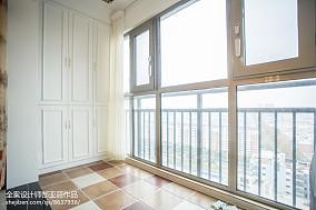 精美面积92平欧式三居阳台装修效果图片大全