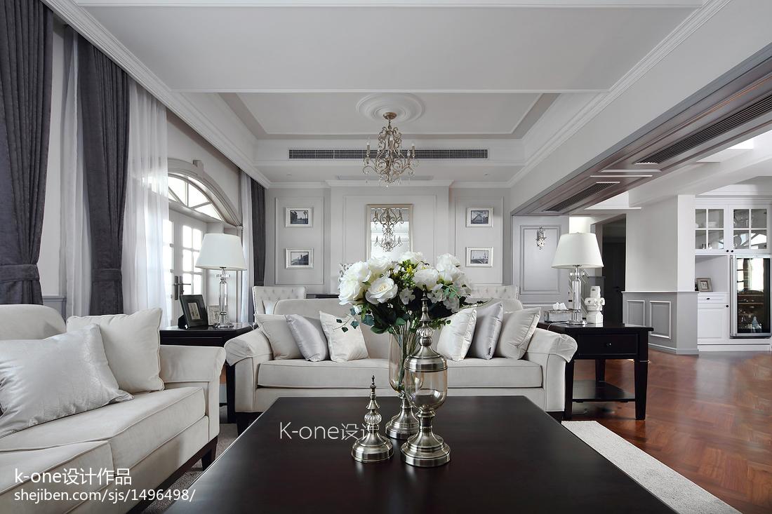 最火面积119平别墅客厅美式装修设计效果图片