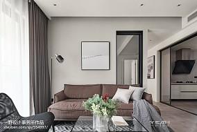 2018面积78平现代二居客厅装修欣赏图片