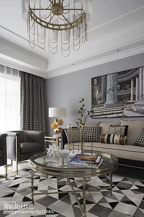 优雅155平美式四居客厅装修图