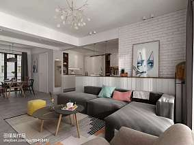 77平米二居客厅北欧装修设计效果图片大全