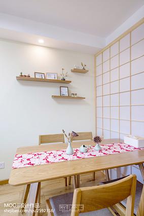 精美面积80平日式二居餐厅装修效果图片