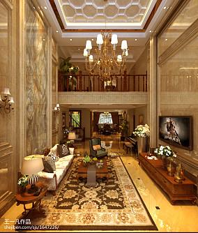 质朴400平新古典别墅客厅效果图片大全