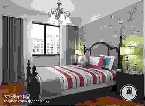 精美95平方三居卧室美式装修欣赏图片