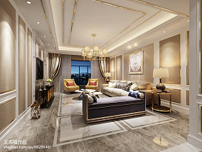 2018精选面积140平四居客厅装修实景图片欣赏