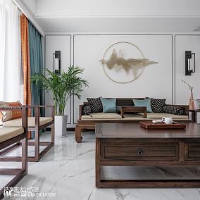 大气中式客厅设计图