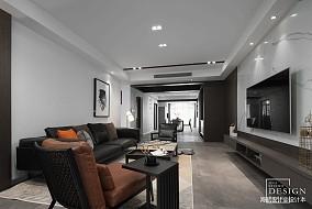 面积139平现代四居客厅效果图