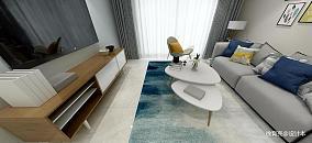 精美70平米二居客厅简约装修实景图片
