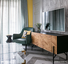 奢华美式电视柜设计