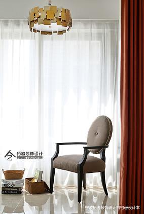 大气118平美式三居阳台装饰美图