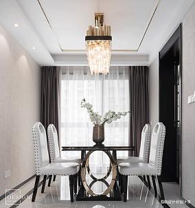 优雅107平现代三居餐厅装修美图
