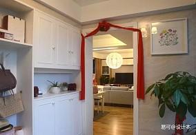 热门96平米三居玄关宜家装修效果图片