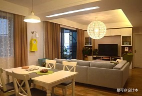 2018精选94平米三居客厅宜家装修设计效果图片