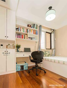 2018精选面积102平美式三居书房装修设计效果图片