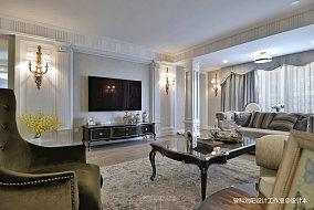2018精选面积129平简欧四居客厅装饰图