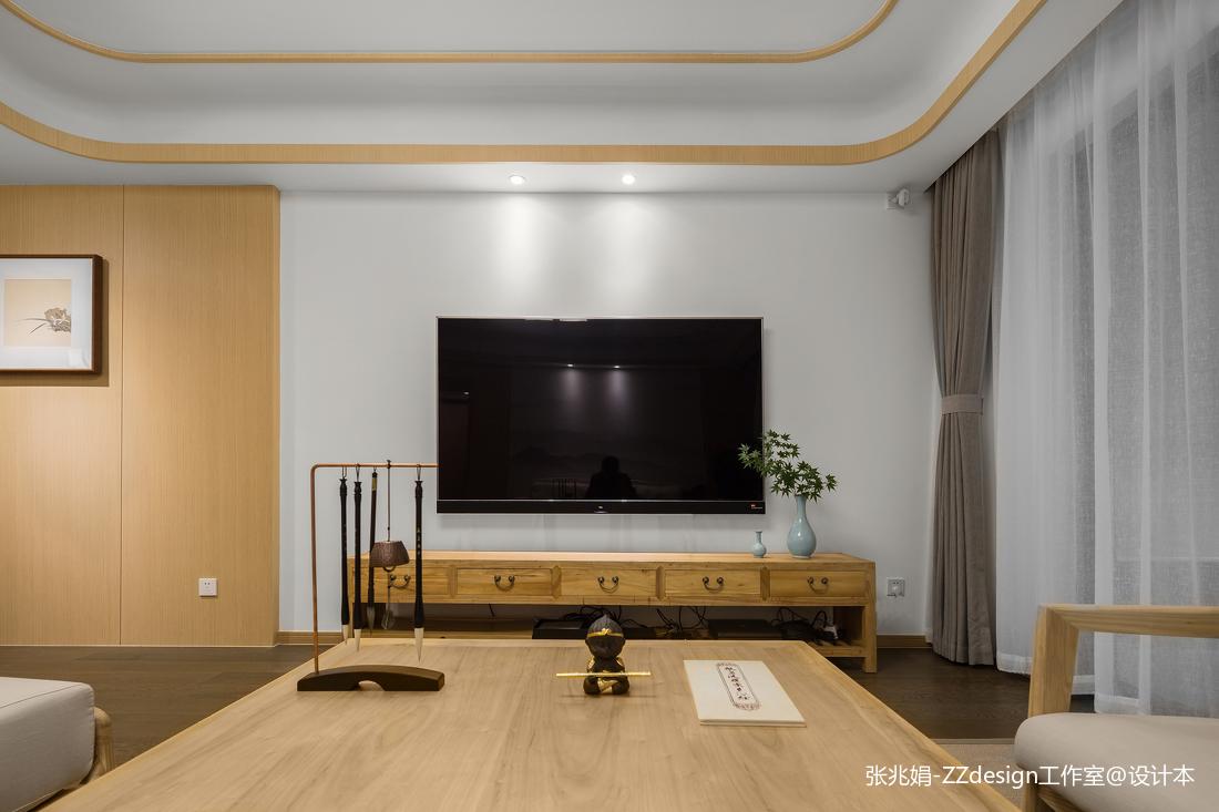 中式装修客厅电视墙