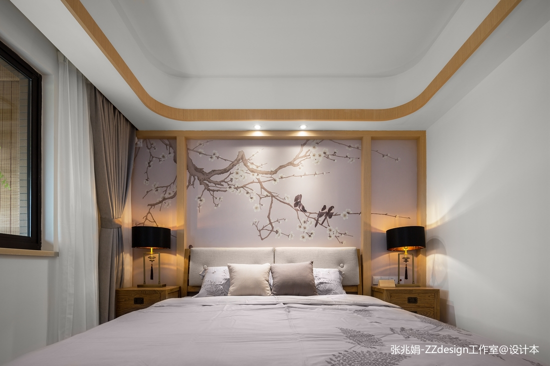卧室床头壁画