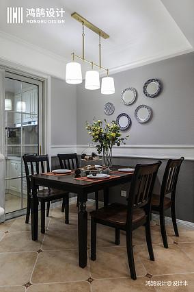 典雅80平美式三居餐厅装修设计图