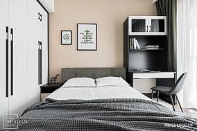 热门面积101平现代三居卧室装修图片大全
