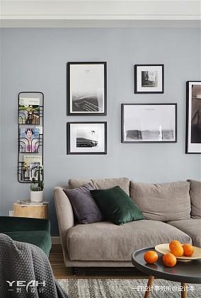 热门92平米三居客厅北欧装修图片欣赏