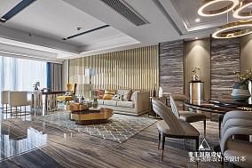 东方风格三居客厅设计