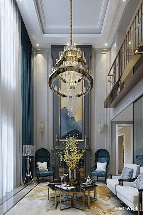 精选面积134平别墅客厅美式装饰图片