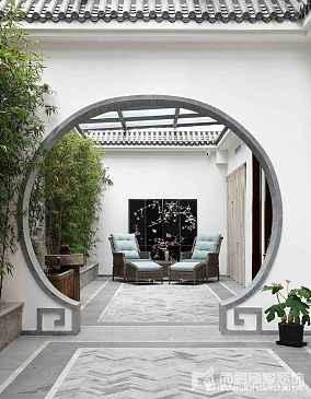 精美面积121平别墅花园中式实景图片大全