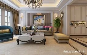 热门大小110平别墅客厅欧式效果图片大全