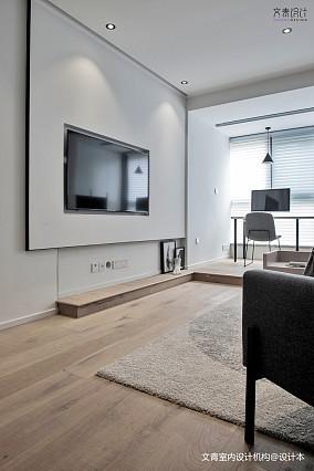 现代简约三居电视背景墙设计