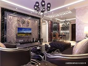 精美88平米二居客廳新古典欣賞圖