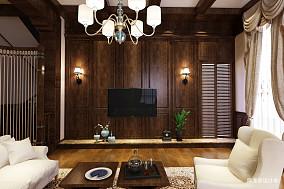 热门144平米美式别墅客厅实景图片欣赏