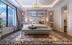 热门面积98平简欧三居卧室装修设计效果图片欣赏