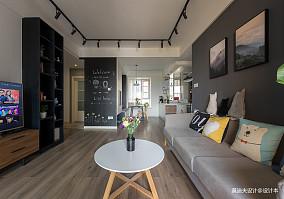 2018精选面积70平混搭二居客厅装修效果图
