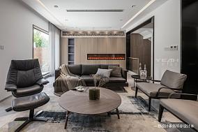 现代别墅客厅背景墙实景设计