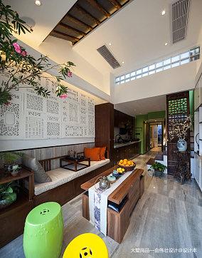 2018精选87平米中式小户型客厅效果图片欣赏