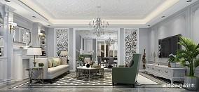 质朴200平法式复式客厅装修案例