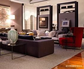 轻奢34平LOFT小户型客厅实拍图