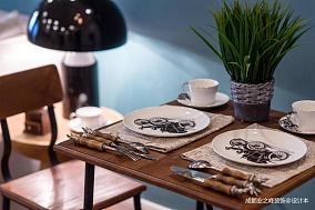 悠雅26平现代小户型餐厅设计美图
