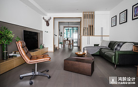 明亮110平混搭二居客厅装饰图片