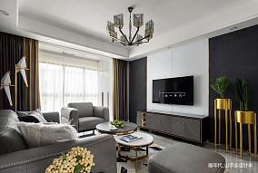 悠雅98平现代三居客厅图片大全