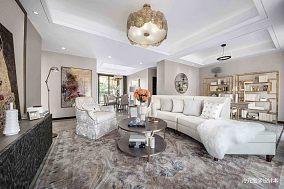 优美130平美式样板间客厅装修装饰图