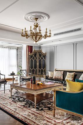 简洁260平法式四居客厅装修图