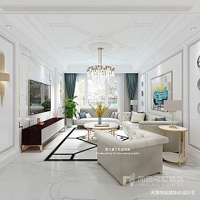 美式风格别墅样板间装修效果图_别墅软装设计公司_3384361