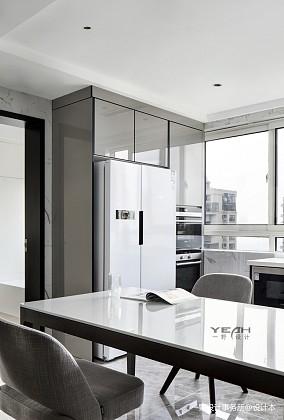 质朴88平现代三居厨房装潢图