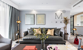 精美143平北欧二居客厅装修设计图