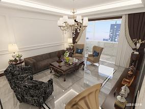 质朴90平简欧三居客厅设计图