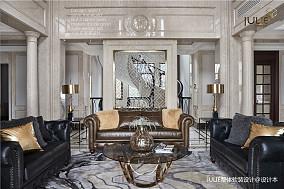 典雅515平美式别墅客厅实拍图