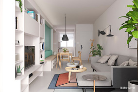 温馨60平北欧小户型客厅设计效果图