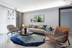 质朴146平现代三居客厅实景图