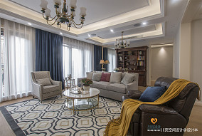 舒适的美式四居室客厅设计